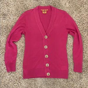 Tory Burch Pink Cardigan Sweater